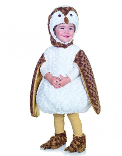 Underwraps Costumes Baby's Barn Owl Belly-Babies, White/Brown/Tan,