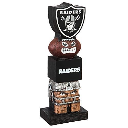 Team Sports America NFL Oakland Raiders 12 Inch Tiki Totem ()