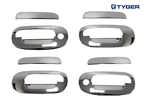 FOR CADILLAC SRX 04-09 CHROME 4 DOORS HANDLES COVERS W//OUT PASSENGER KEYHOLE