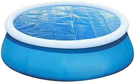 Manta solar 24 pies Ronda piscina cubierta solar piscina cubierta protectora de la tierra de la piscina Por encima de la cubierta resistente al agua Manta térmica for trabajo pesado flotante Protector: