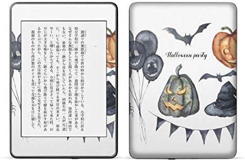 igsticker kindle paperwhite 第4世代 専用スキンシール キンドル ペーパーホワイト タブレット 電子書籍 裏表2枚セット カバー 保護 フィルム ステッカー 015841 ハロウィン おばけ halloween