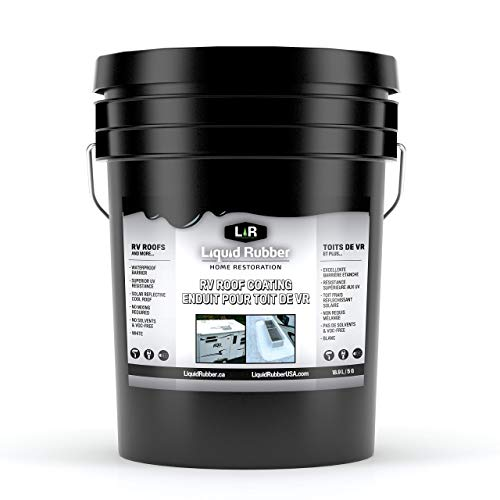 Liquid Rubber RV Roof Coating/Sealant - Solar Reflective | Waterproof | Easy to Apply | Brilliant White | 5 Gallon