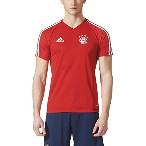 adidas Men's Bayern Munich 2017/18 Training Jersey, (Bayern Munich 3 Stripe)