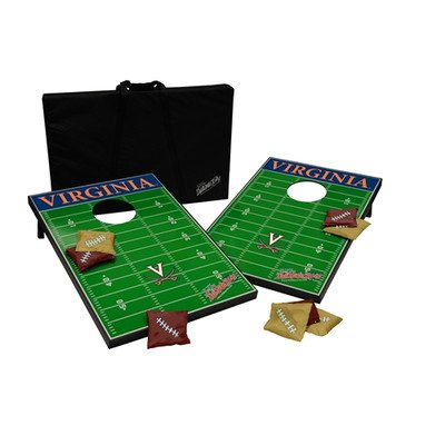 NCAA 10 Piece Cornhole Game Set NCAA Team: Virginia by Tailgate Toss