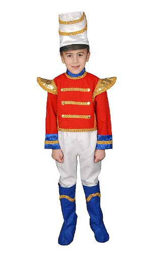 Amazon.com  Dress Up America Deluxe Toy Soldier Costume Set - Small ... 7883b3c045b5