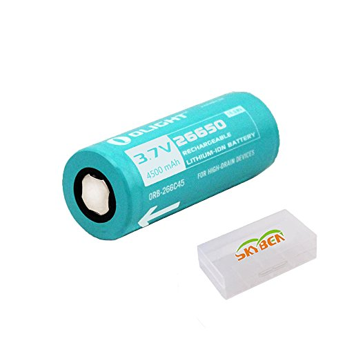 Bundle: Olight 26650 4500mah Protected Rechargeable Li-ion Battery For Olight R50 R40 Flashlight With Skyben Battery Box Photo #2