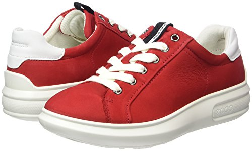 Donna 56545chili white Ecco 3 Scarpe Stringate Rosso Red Soft wZAqIv