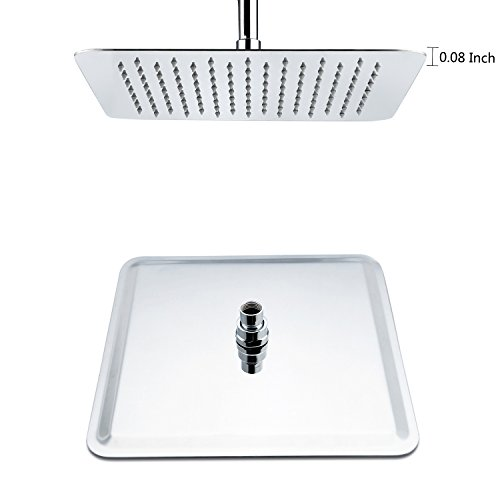 SR SUN RISE 8-inch Luxury Square Rainfall Shower Head Wall Mount High Pressure Rain Showerhead Ultra Thin Chrome Finish 2.5 Gpm hot sale