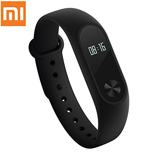 Xiaomi Mi Band 2 con visualización LED Touchpad Smart Heart Rate Monitor Fitness Tracker - Podómetro Impermeable Wireless...