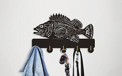 Rock Fish Shape Design Sea Animals Creative Wall Decor Art Wall Hooks Clothes Coat Towel Hooks Keys Holder Bathroom Kitchen Hanger Decor Hooks by The Geeky Days (Image #6)