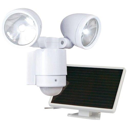 MAXSA(R) INNOVATIONS 44418 Bright Dual-Head Solar Security Light (White), new by MAXSA(R) INNOVATIONS