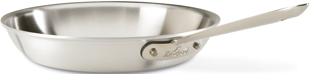 All-Clad 7108 MC2 Professional Master Chef 2 Stainless Steel Bi-Ply Bonded Oven Safe PFOA Free Fry Pan, 8-Inch, Silver