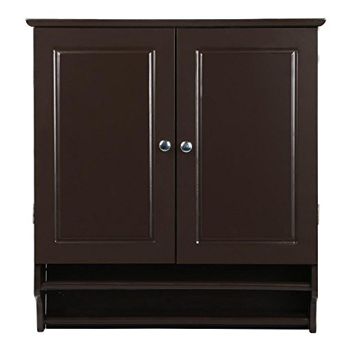 go2buy Wall Mounted Cabinet Kitchen/Bathroom Wooden Medicine Hanging Storage Organizer, Espresso by go2buy (Image #4)