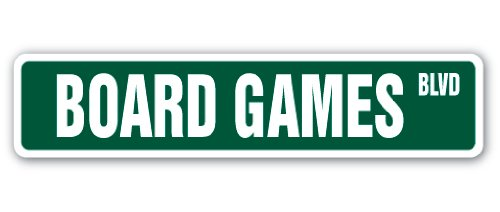 - BOARD GAMES Street Sign player chess checkers lover monopoly | Indoor/Outdoor | 18