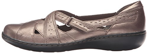 CLARKS Women's Ashland Spin Q Slip-on Loafer, Pewter, 8.5 B(M) US by CLARKS (Image #5)