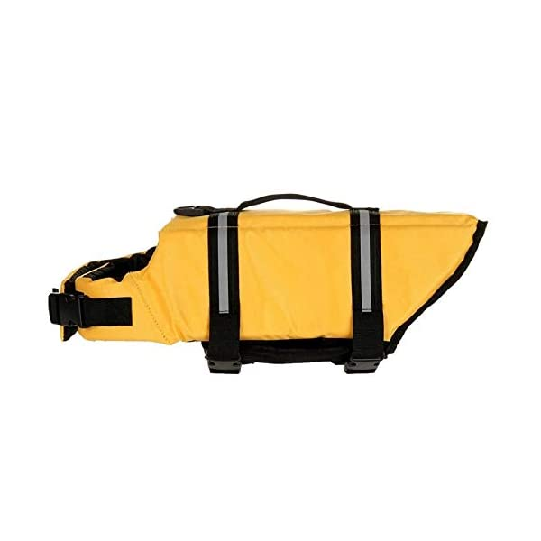 L Yellow Pet Dog Life Jacket Bones Patterns Safety Clothes Life Vest Harness Saver Pet Dog Swimming Preserver Clothes… Click on image for further info. 5