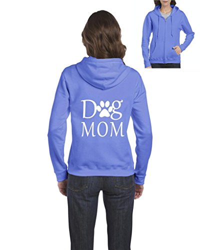 Artix Dog Mom Paw Shelter Rescue Animal Fashion People Mothers Day Couple Gift Full-Zip Women Hoodie XX-Large Carolina Blue (Womens Hoodie Gifts Zip)