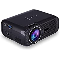 AmeriCool AC80 1200 Lumens 1080P 800x480 LED Video Projector Support Tablet And Smartphone VGA/USB/AV/TV Home Theater Cinema (Include HDMI Cable)