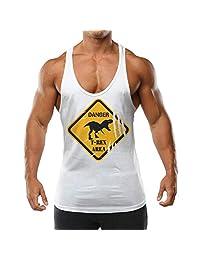 werqrd Dinosaur Danger T-Rex Area.boy Muscle Tank Top Fitness Gym Sport Vest