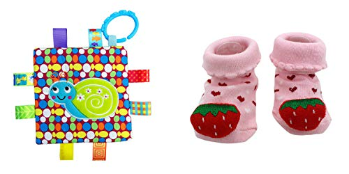 New Cute Baby Spring Strawberry & Little Taggie Snail Blanket Theme 2-Pack 3-12 Months w/Gift Box ()