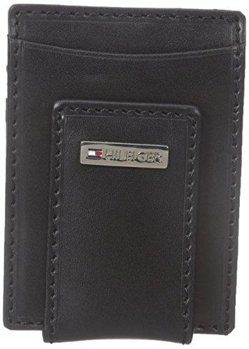 Tommy Hilfiger Men's Fordham Slim Front Pocket Wallet, Black, One Size (Tommy Hilfiger Slim Suit)