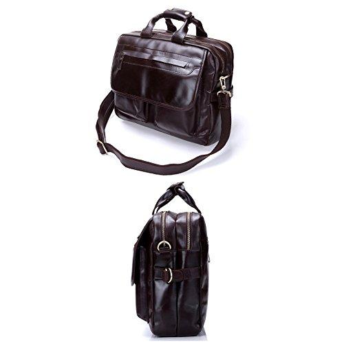 Porte-documents en cuir sac pour ordinateur portable en cuir véritable Business Bag Sacs Sac Voyage Fit 15 pouces pour ordinateur portable