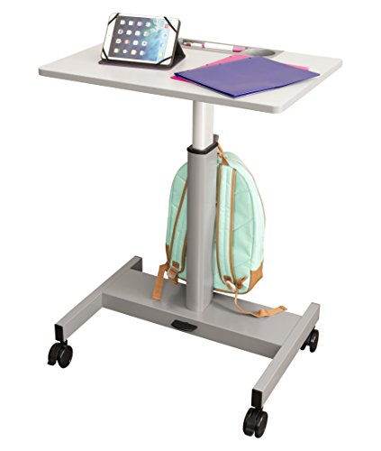(Pneumatic Adjustable Height Student Desk | Classroom Desk - Lets Kids Stand or Sit While They Learn, 27.5