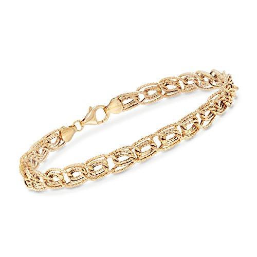Ross-Simons 14kt Yellow Gold Textured Triple Curb-Link (Textured Curb Link)