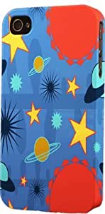 Blue Space Pattern Dimensional Case Fits Case For Sam Sung Galaxy S4 I9500 Cover
