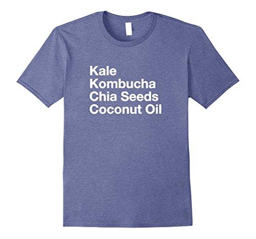 Mens Kale Kombucha Chia Seeds Coconut Oil Healthy Tshirt ...
