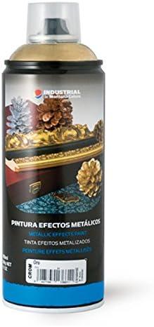 Montana Colors MTN Industrial Spray Oro Cromado 400ml - Spray con Efectos Metálicos, Oro Cromado, 400 ml