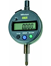 """Mitutoyo 543-783 Absolute Digimatic Indicator, Id-S-Type, Lug Back, 4-48 UNF Thread, 3/8"""" Stem Dia, 0-0.5"""" Range, 0.0005"""" Resolution, Plus /-0.0008"""" Accuracy, Meets IP42 Specifications"""