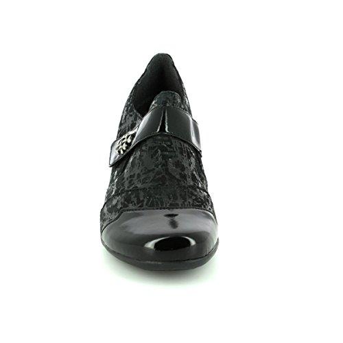 para negro Remonte 01 patente estampado mujer mocasines D7333 x8UaCwqz4