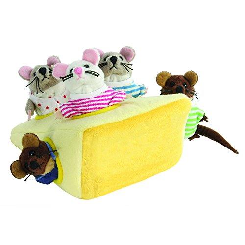 The Puppet Company - Marionnettes cachées - Famille de souris dans un fromage