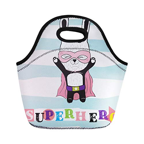 Knife Rescue Bravo (Semtomn Lunch Bags Beauty Colorful Adorable Strong Bunny Rabbit Animal Beautiful Body Neoprene Lunch Bag Lunchbox Tote Bag Portable Picnic Bag Cooler Bag)