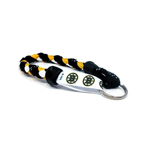 Boston Bruins Keychain - Swannys Boston Bruins Hockey Skate Lace Keychain