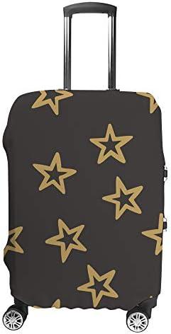 スーツケースカバー 星柄 黒背景 伸縮素材 キャリーバッグ お荷物カバ 保護 傷や汚れから守る ジッパー 水洗える 旅行 出張 S/M/L/XLサイズ