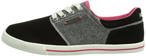 Quiksilver Nero Donna Swan black Blk schwarz Sneaker a0q7a
