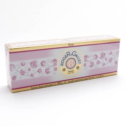 Roger & Gallet Perfumed Soap, Rose, 3 x 100 g ()