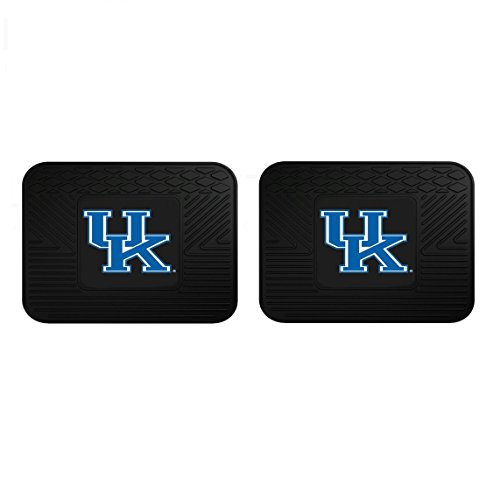 Two Officially Licensed NCAA Universal Fit Rear Rubber Automotive Floor Mats - Kentucky Wildcats