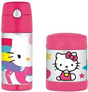 Hello Kitty Funtainer Bottle and Food Jar