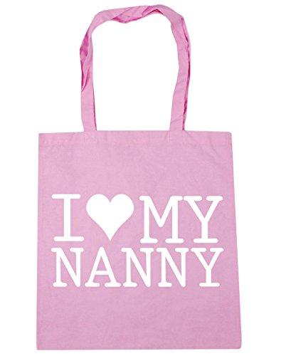 HippoWarehouse I Love My Nanny Tote Shopping Gym Beach Bag 42cm x38cm, 10 litres