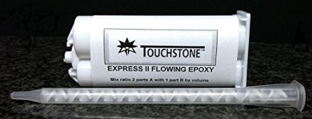 Touchstone Express II Flowing (50ml / 2:1) Transparent Epoxy Glue Adhesive Granite Marble Tile Natural Stone, Hollow Tile Repair