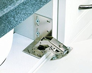 Rev-A-Shelf 6552-ETH-10 Euro Face Frame Tip-Out Tray Hinge, Chrome