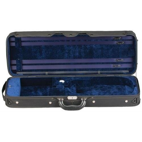 Heritage Challenger Deluxe Viola Case Black Exterior with Blue Interior Her-6487