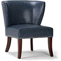 Simpli Home Jamestown Accent Chair, Denim Blue