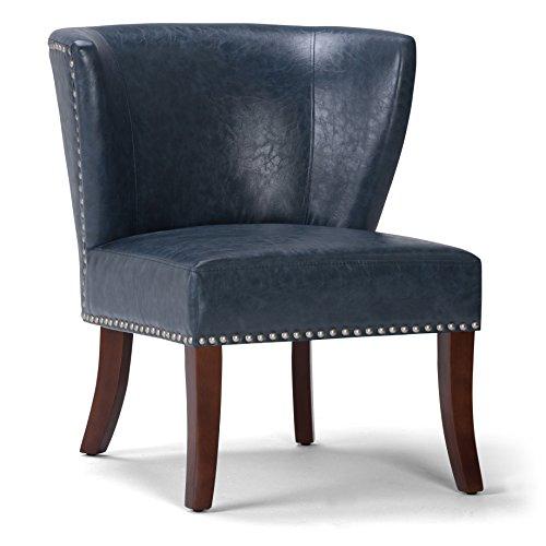 Simpli Home AXCCHR-009-DBU Accent Chair, Denim Blue Club Chair Denim