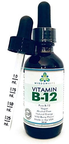 Liquid Vitamin B12 Drops - Halal, Kosher, Vegan Vit B12 Sublingual Drops 2500mcg Methylcobalamin - For Weight Loss and ()