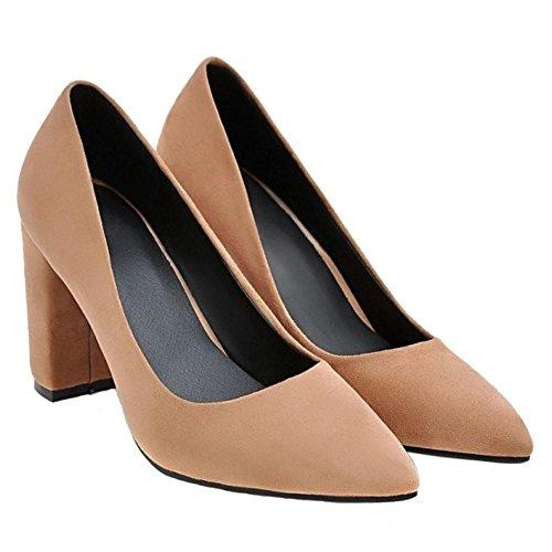 Shoes Block Brown 2 Pumps VulusValas Women Heel High q7wZOXZ