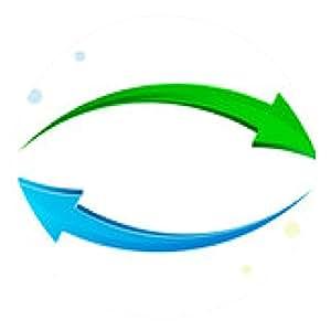 alfombrilla de ratón Verde, flecha azul 3D. - ronda - 20cm